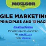 Sharing some principles and hacks of Agile Marketing