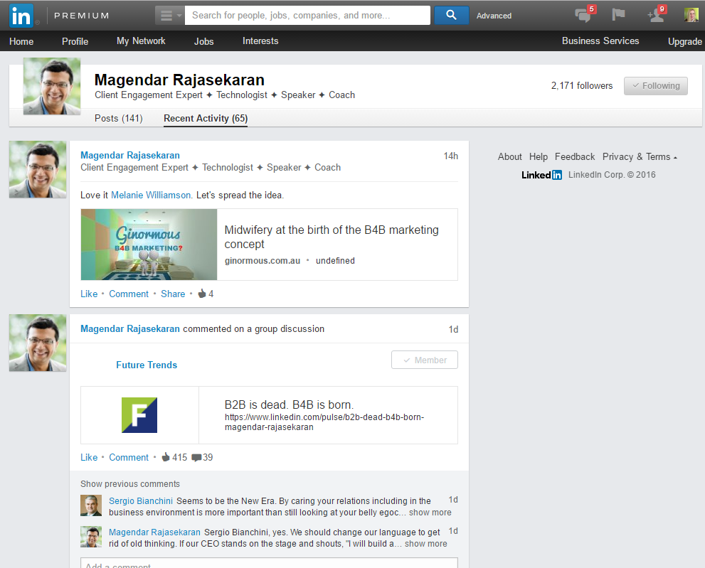 Magendar Rajasekaran on Linkedin