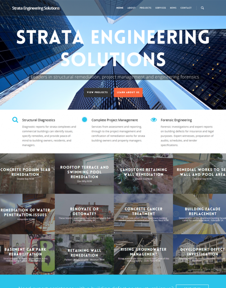 Website design for consulting engineers, SES