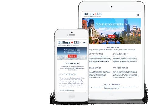 Billings + Ellis website by Ginormous