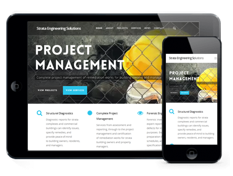 Strata Engineering Solutions website by Ginormous