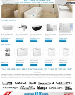 Online store design for WHO Bathroom Warehouse